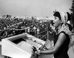 Ruby Dee Giving Reading at March on Washington